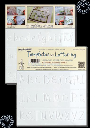 Image sur 2 Pochoirs pour Handlettering Alphabet  2, lettres majuscule + lettres minuscule +chiffres