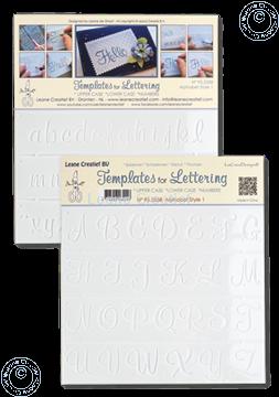 Afbeeldingen van 2 Templates for Handlettering Alphabet style 1, Upper case+ Lower case+Numbers