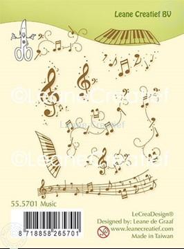 Afbeeldingen van Combi clear stamp Muziek