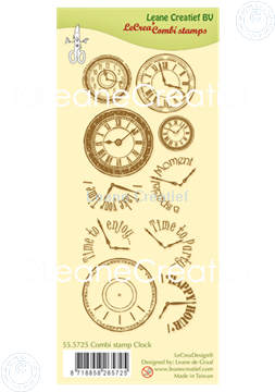 Afbeeldingen van Combi clear stamp Clock