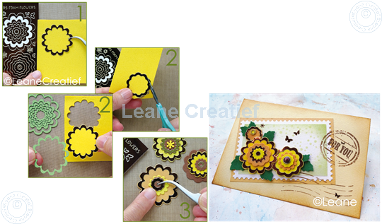Picture of Nested Flower Peel offs mirror gold