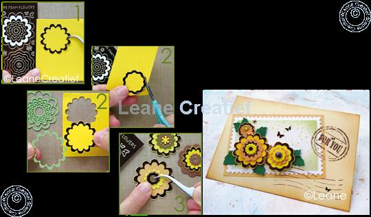 Afbeelding van Nested Flower Sticker mirror gold