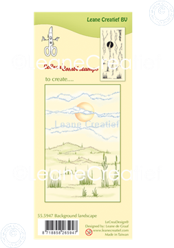 Picture of LeCreaDesign® clear stamp Background Landscape