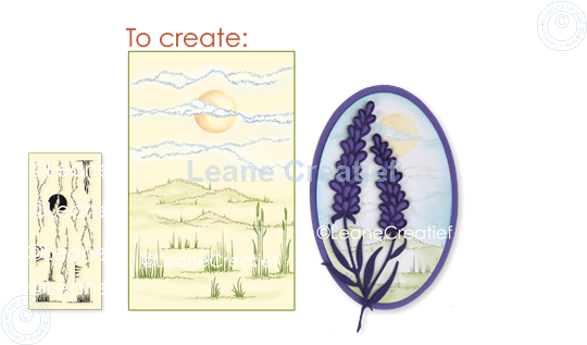 Image sur LeCreaDesign® tampon clair fond Paysage