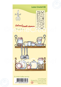Picture of LeCreaDesign® combi clear stamp Coffee service