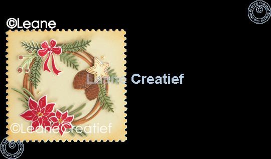 Picture of Set Stamp & Contour Die Wreath X-mas