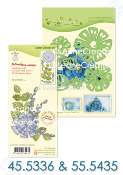 Afbeeldingen van Set Multi Die & Clearstamp Fantasy Flower
