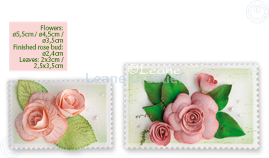 Picture of Set Multi die & Clearstamp Rose & Roll-up tool
