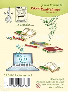 Picture of Combi clear stamp Laptop - School
