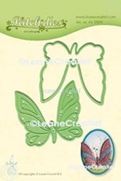 Afbeeldingen van Lea'bilitie® Patch die Vlinder  snij en embossing mal