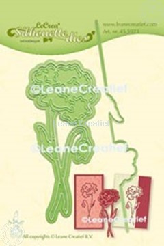 Picture of Lea'bilitie® Poppy silhouette cut and embossing die mal