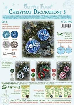Bild von Glitter Foam Weihnachtskugel Dekoration Set 3
