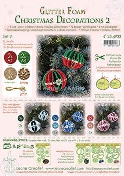 Bild von Glitter Foam Weihnachtskugel  Dekoration  Set 2