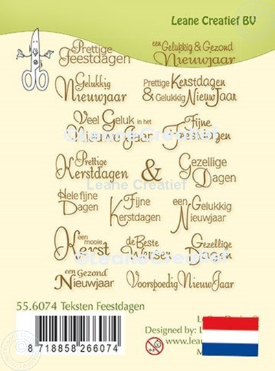 Picture of LeCreaDesign® clear stamp Dutch Wishes  Christmas and New Year