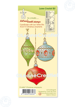 Picture of LeCreaDesign® combi clear stamp Christmas ornaments