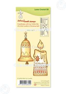 Image de LeCreaDesign® combi tampon clair Boule de Noël & Chandelier