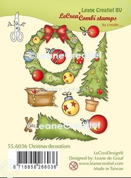 Picture of LeCreaDesign® combi clear stamp Christmas decorations