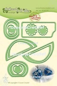 Afbeeldingen van Lea'bilitie® Glitter Foam decoratie  Hart gladde rand snijmal