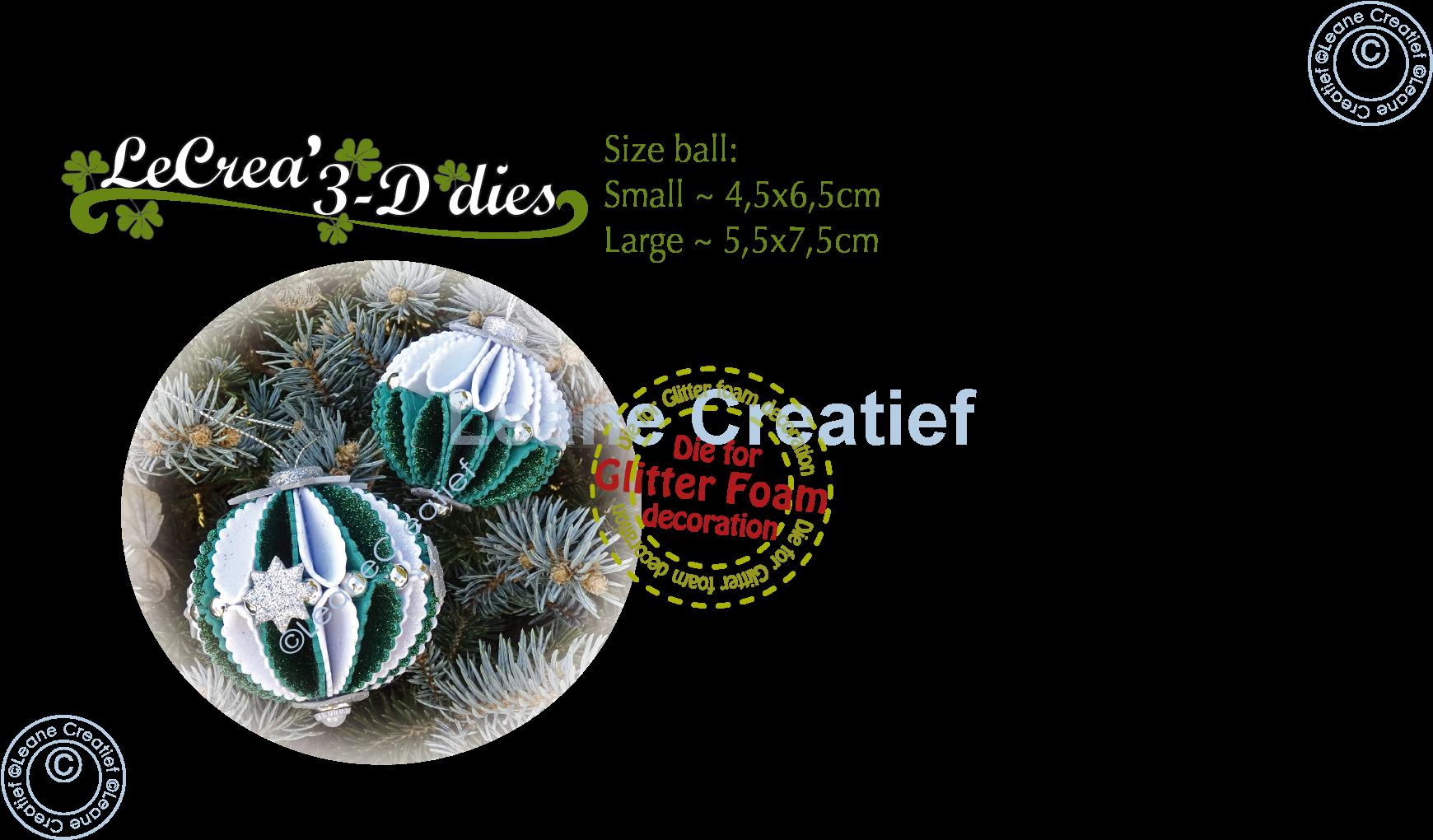 Leane Creatief Uitgeverij Bv Lea Bilitie Glitter Foam Decoration Ornament Ball Wave Cutting Die