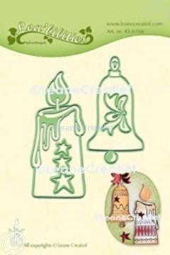 Bild von Lea'bilitie® Kerze & Weihnacht Klingel  Präge- und Schneideschablone