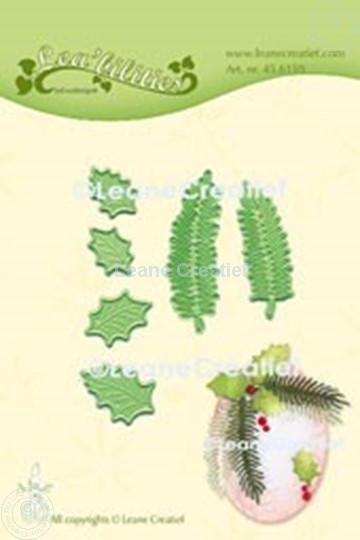 Picture of Lea'bilitie® Holly & pine branches small cut and embossing die