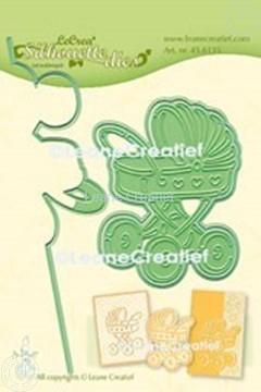 Image de Lea'bilitie® Poussette silhouette matrice pour découper & gaufrage