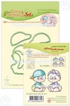 Image de Lea'bilitie® Tampon clair & Contour matrice pour découper  Set Baby garçon & fille