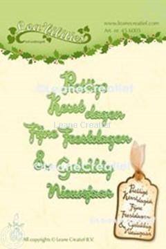 Afbeeldingen van Lea'bilitie® Nederlandse teksten  Kerst & Nieuwjaar snijmal
