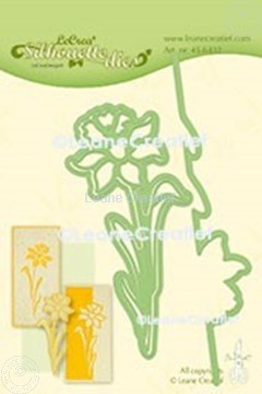 Afbeeldingen van Lea'bilitie® Silhouette die Narcis snij en embossing mal