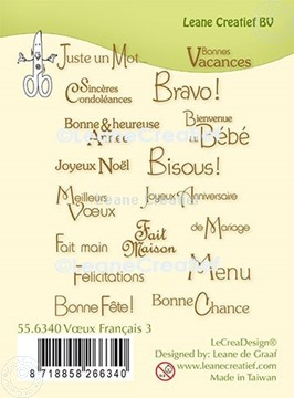Picture of LeCreaDesign® combi clear stamp French words 3