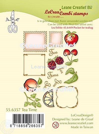 Image sur LeCreaDesign® combi clear stamp heure du thé