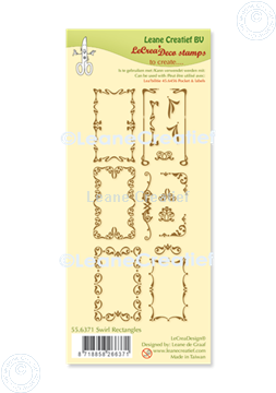 Picture of LeCreaDesign® combi clear stamp Swirl Rectangles