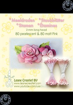 Picture of Stamen 2mm,  80 matt & 80 pearl Pink
