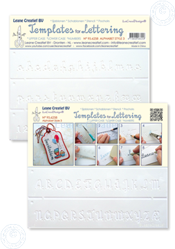 Picture of 2 Templates for Hand lettering Alphabet style Nº 3, Upper case + Lower case +Numbers