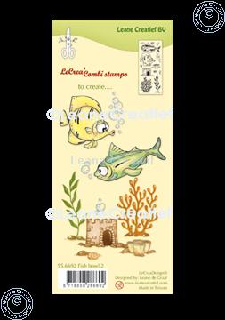 Bild von LeCreaDesign® Kombi Silikon Stempel  Fische 2.