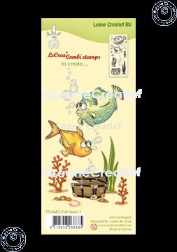 Bild von LeCreaDesign® Kombi Silikon Stempel Fische 1.