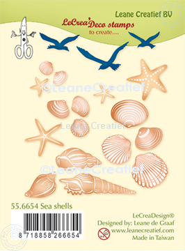 Picture of LeCreaDesign® deco clear stamp Sea shells