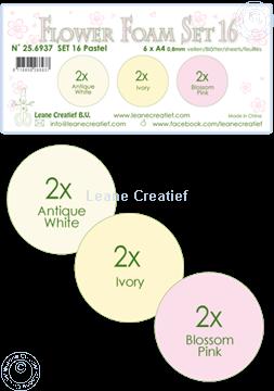 Picture of Flower Foam set 16 /6x A4 sheet /3 colours Pastel 1