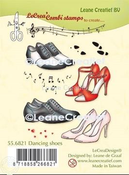 Afbeeldingen van LeCreaDesign® combi clear stamp Dansschoenen