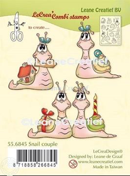 Afbeeldingen van LeCreaDesign® combi clear stamp Slakken
