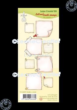 Afbeeldingen van LeCreaDesign® combi clear stamp Notitie blaadjes