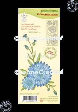 Afbeeldingen van LeCreaDesign® deco clear stamp Korenbloem 3D