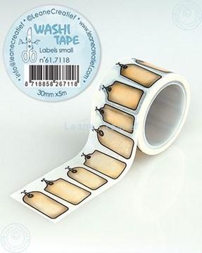 Afbeeldingen van Washi tape Labels klein, 30mm x 5m.