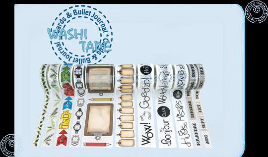 Afbeelding van Washi tape Clip boards, 45mm x 5m.