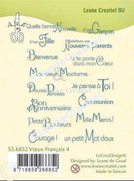 Afbeeldingen van LeCreaDesign® combi clear stamp Franse teksten 4.