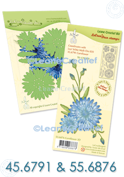 Bild von Set Multi die & Clearstamp Cornflower 3D