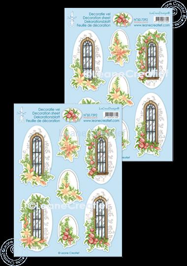 Image sur Feuilles de décoration Scène de fenêtre.