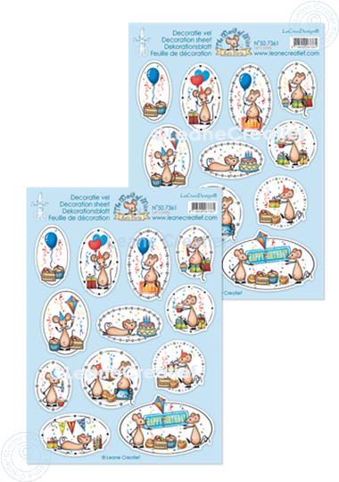 Picture of Decoration sheets The world of Mice, Let's Party