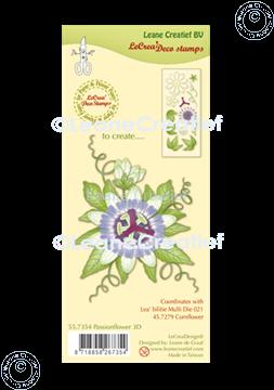 Image de LeCreaDesign® tampon clair à combiner Fleur de la passion 3D