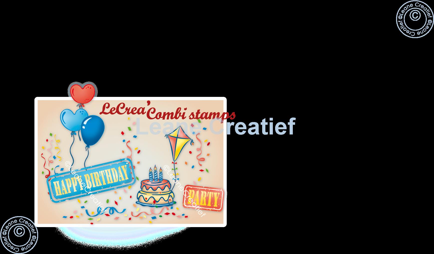 Afbeelding van LeCreaDesign® combi clear stamp Feest